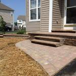 Cambridge Stoop, Steps and Landing replaced old worn concrete and help to accent this house's curb appeal